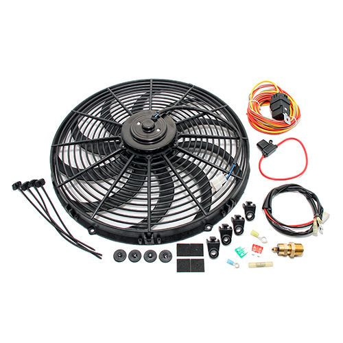 High Cfm Electric Curved S Blade 16 Radiator Cooling Fan W Wiring Harness Kit Cooling Fan Cool Stuff Fan