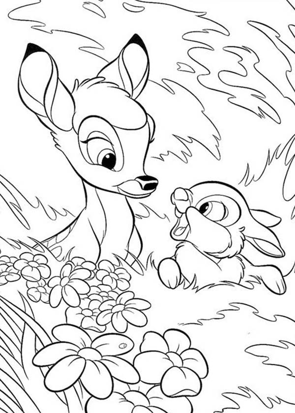 Bambi And Thumper Hide Behind Grass Coloring Pages Bulk Color In 2020 Bunny Coloring Pages Cartoon Coloring Pages Horse Coloring Pages