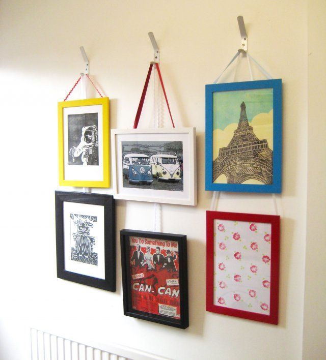 Make A Feature Wall Of Your Framed Prints Hanging Pictures Picture Frame Wall Hanging Picture Frames