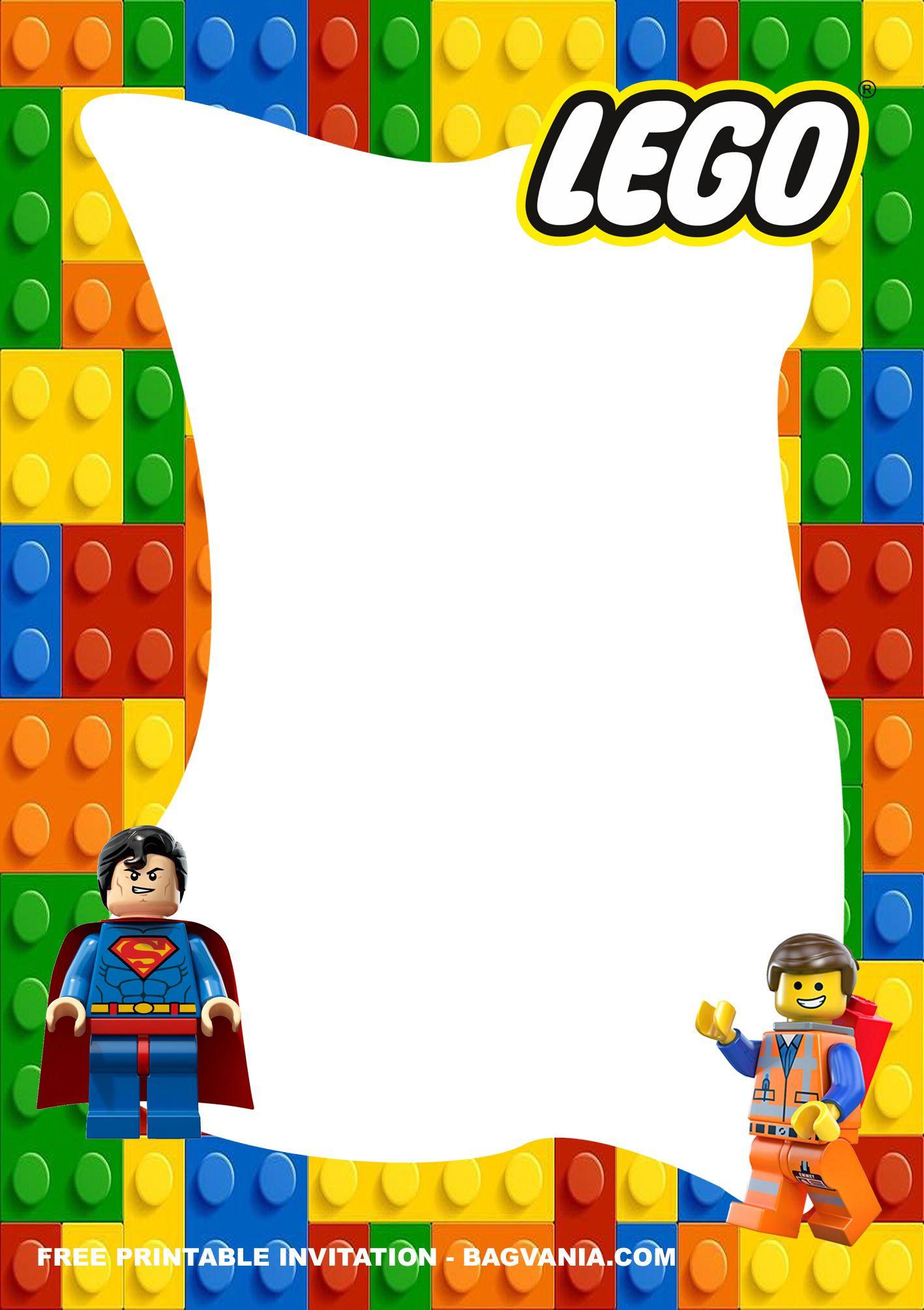 Free Printable Lego Superheroes Birthday Invitation Templates Superhero Birthday Invitations Lego Birthday Invitations Lego Birthday