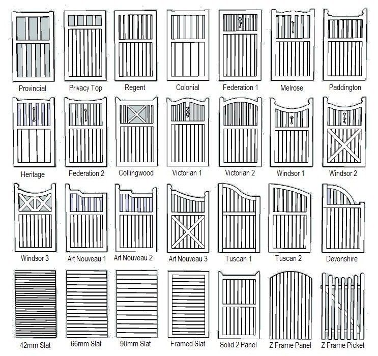 wooden fence gates designs | Wood fence Blog. Custom FenceWorks ...