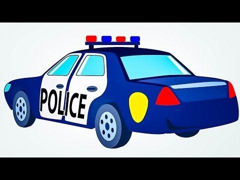 Abckidslearn Police Car Cartoon For Children Police Car Cars
