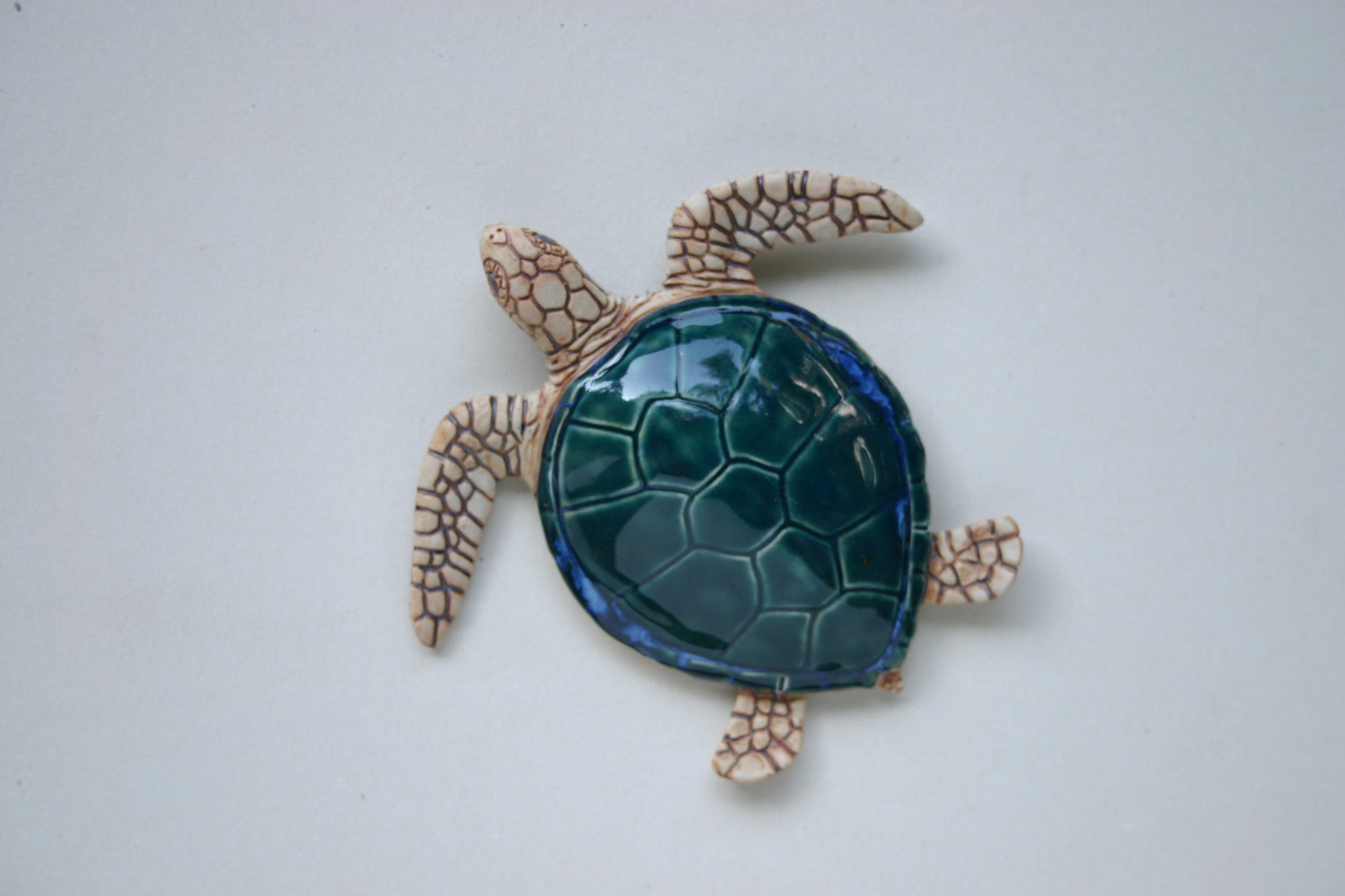 Green Sea Turtle Wall Hanging by ClayFantaSea on Etsy