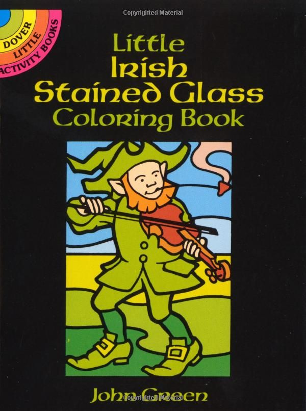 Little Irish Stained Glass Coloring Book Dover John Green