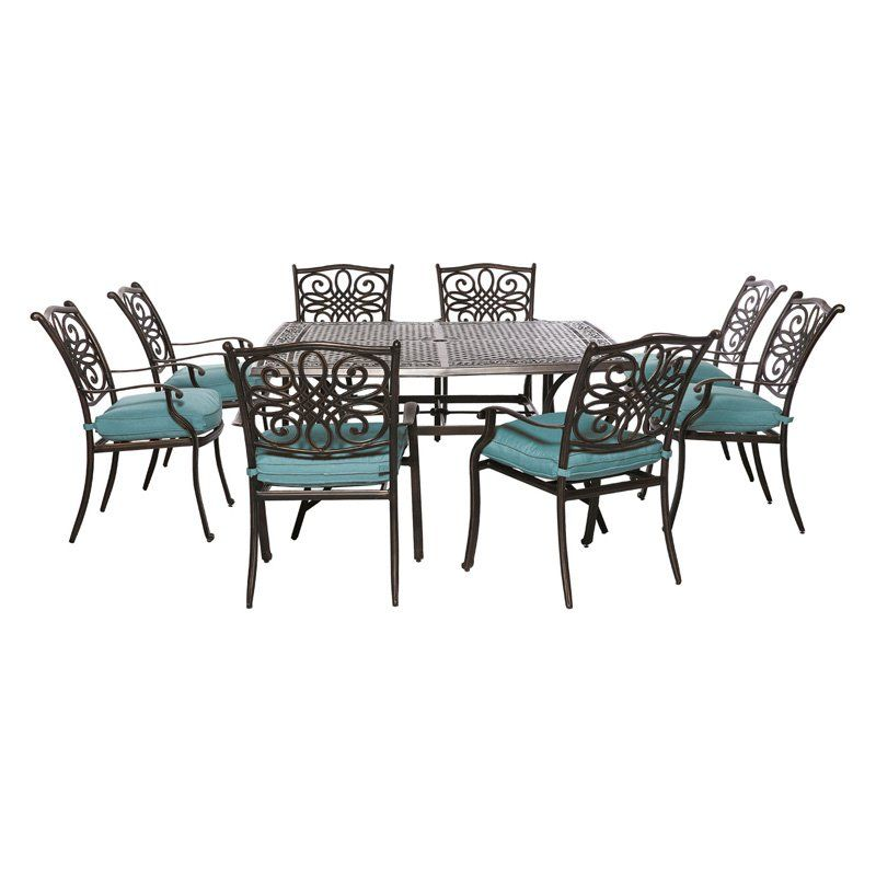 73747be49dc Hanover Outdoor Traditions 9 Piece Square Patio Dining Set - Create  memories with the Hanover Outdoor Traditions 9 Piece Square Patio Dining Set  .