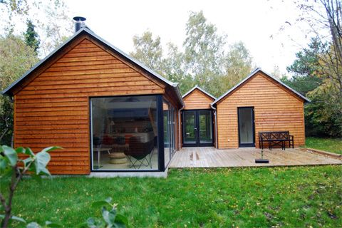Modular cottages by the danish architectural firm lykke for Modular cabins and cottages