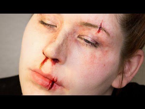Fx Makeup Series Split Lip And Brow Youtube Fx Makeup Amazing