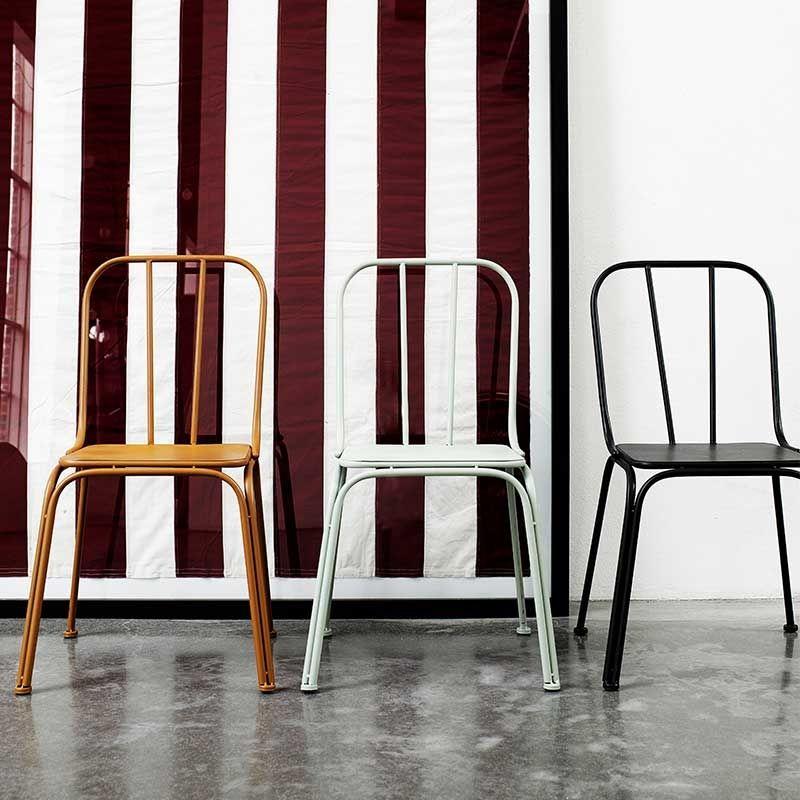 Stuhl Downtown Metall grau von Nordal | Küchenstühle | Pinterest