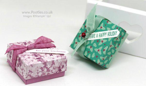 Stampin' Up! Demonstrator Pootles -Presents & Pinecones Darling little Box