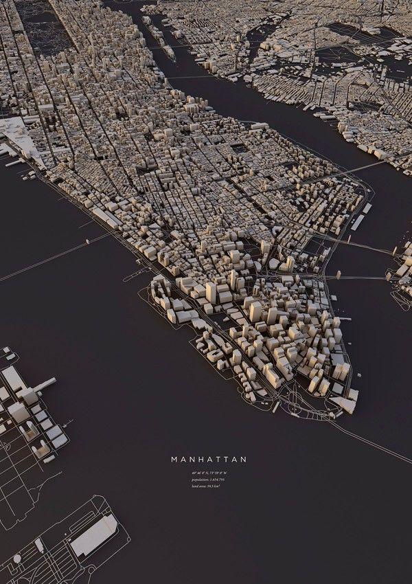 3D City Layouts by Luis Dilger 3D