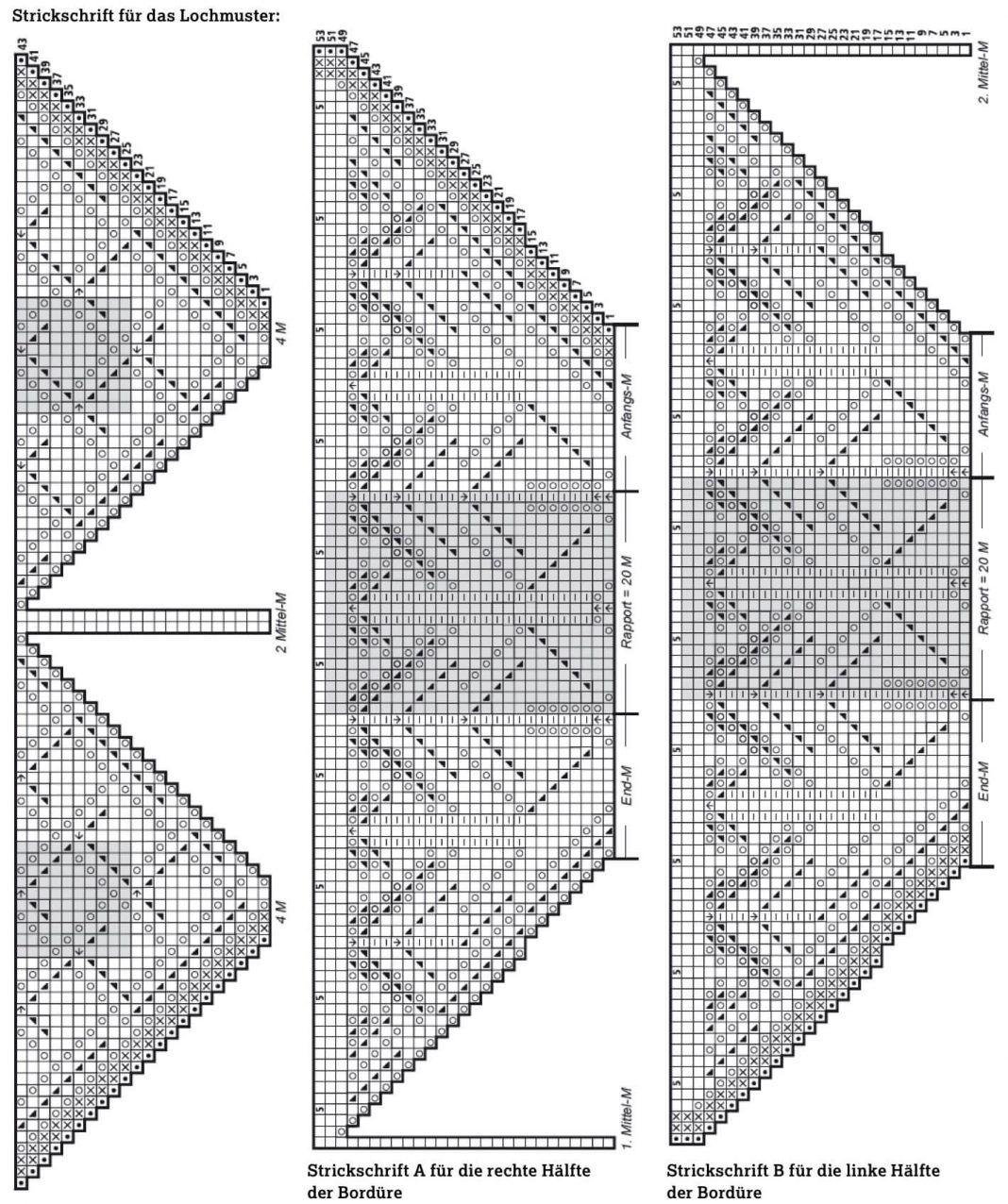 Photo of Lace-Dreiecktuch mit Lochmuster – kostenlose Strickanleitung