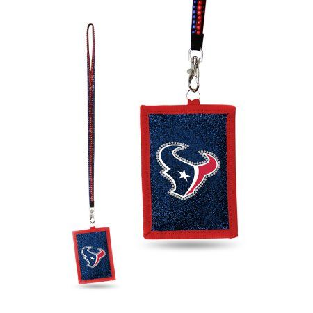 Houston Texans Official NFL Beaded Lanyard Wallet by Rico Industries 541187, Adult Unisex, Multicolor