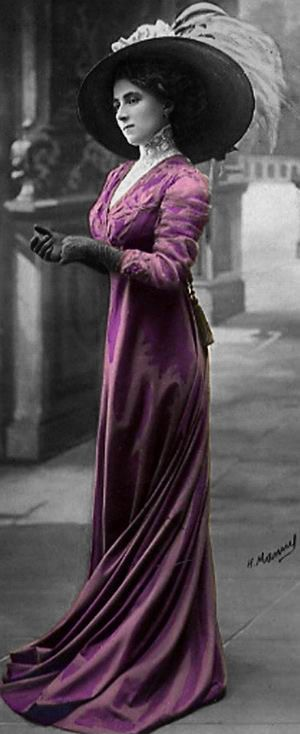 vintage lady in purple #vintage #purple