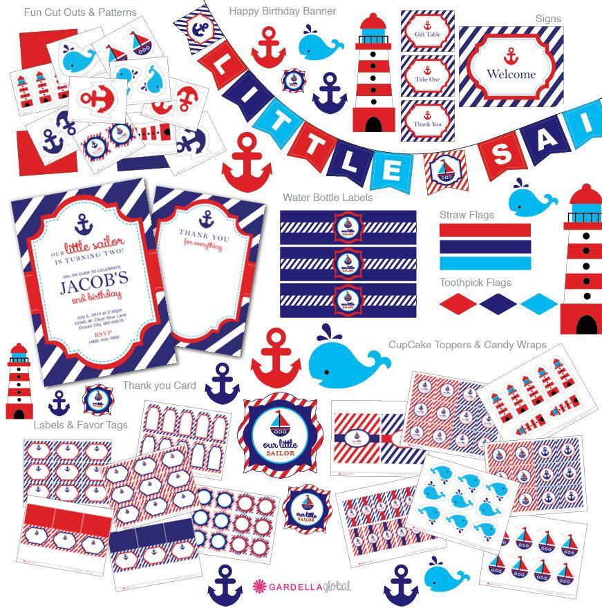 Nautical Birthday Invitation Nautical Invitation Nautical Invite - Nautical birthday invitation ideas