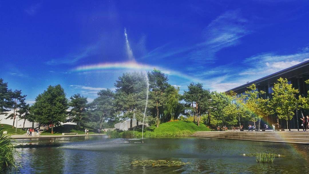 How I love rainbows... #Autostadt  #MyLowerSaxony #EnjoyGermanNature #GermanyChallenge #TandemChallenge