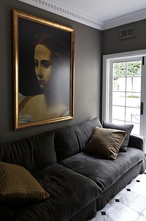 Dark Gray Velvet Sofa Living Room Dark Living Rooms Dark Gray Sofa