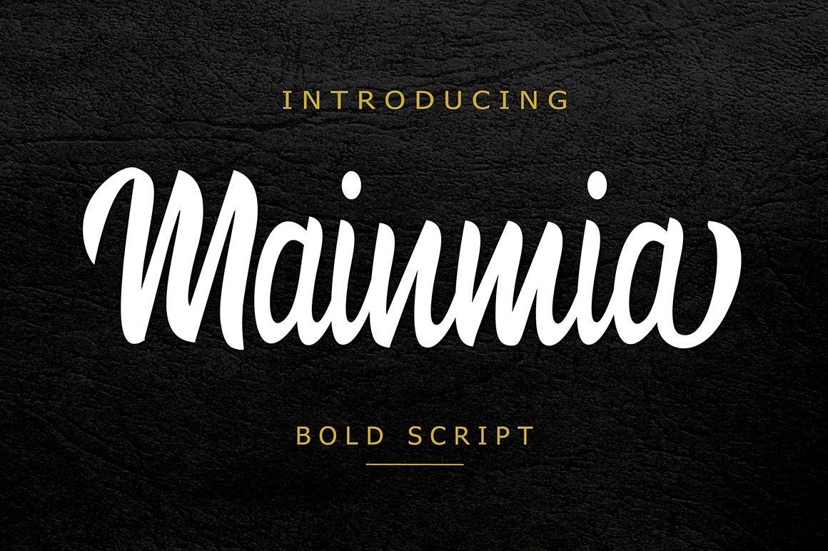 Download Mainmia - Free Script Font | Script fonts, Font packs ...