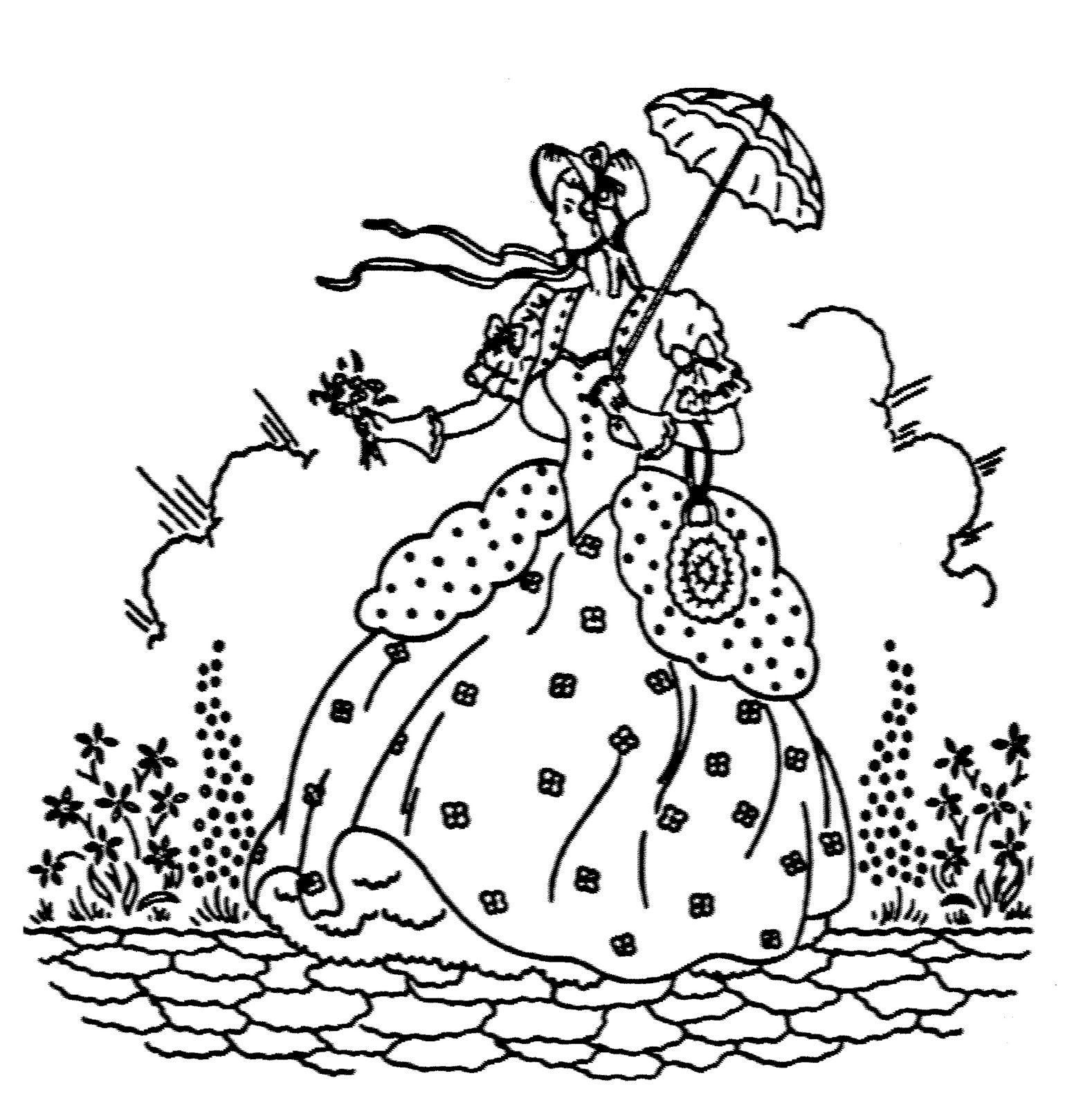 Southern Belle | Embroidery: Crinoline Ladies | Pinterest | Bordado ...