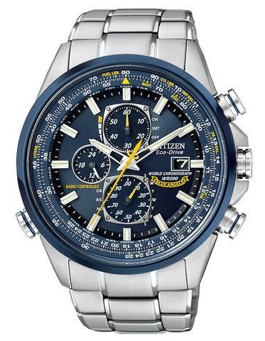 ae41f9eb858 Citizen Blue Angels Eco Drive world chrono AT stainless steel AT8020-54L