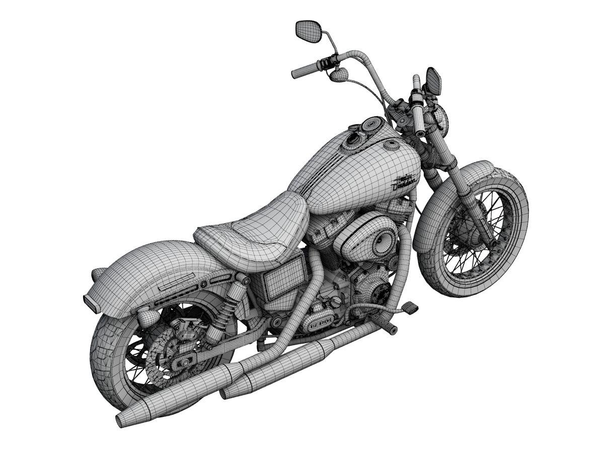 3D Model Motorbike | fbx obj ma 3ds c4d dxf - 3D Squirrel