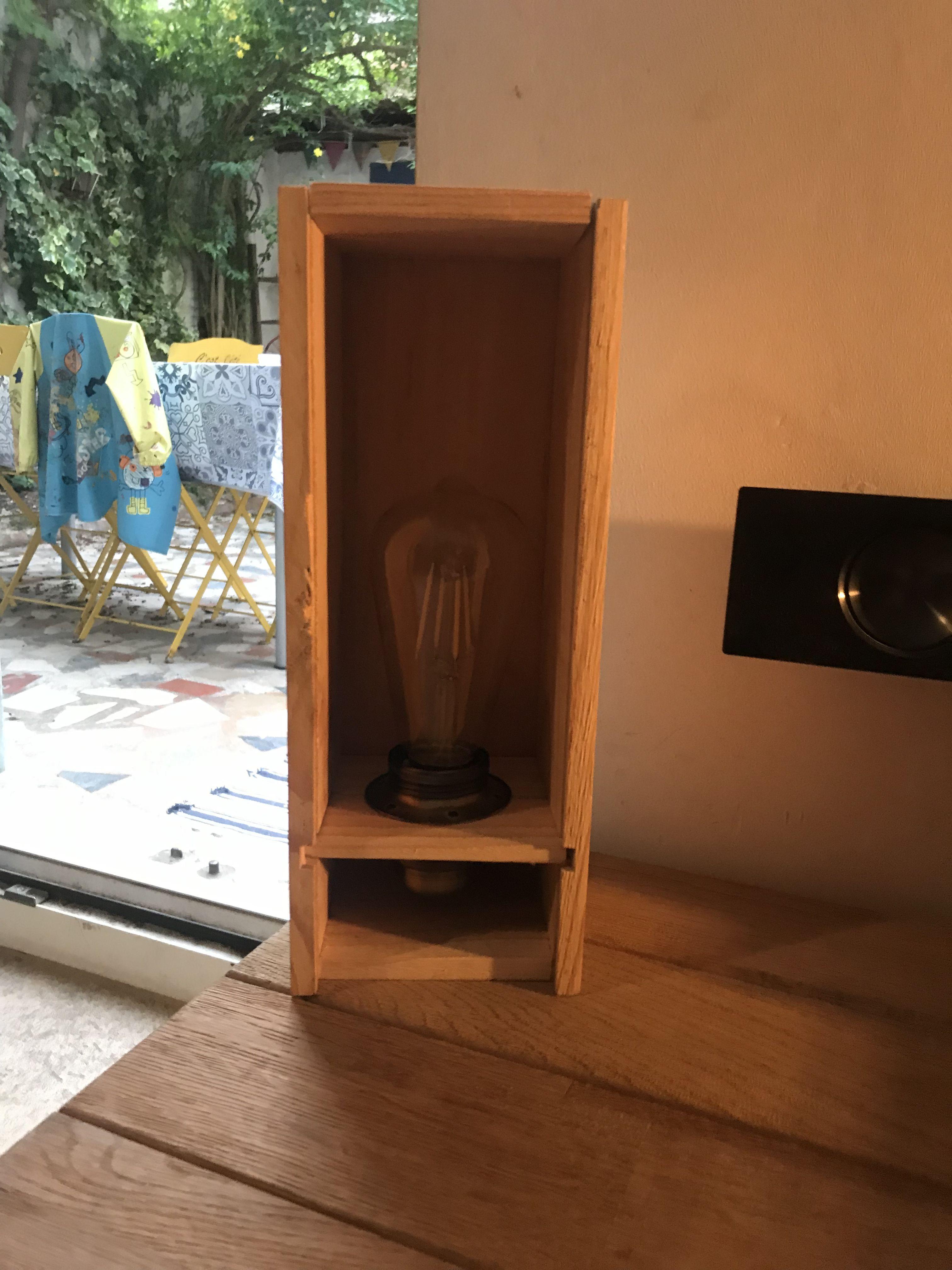 Lampe Caisse De Vin Diy Deco