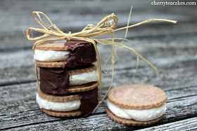 Cherry Tea Cakes: Cannoli Ice Cream Sandwiches