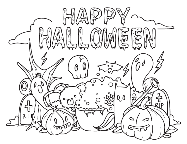 Free Printable Happy Halloween Coloring Page Download It At Https Museprint Halloween Coloring Halloween Coloring Pages Printable Halloween Coloring Pages