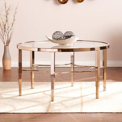 Wildon Home Lewis CoffeeTable Reviews Wayfair Home Living - Wayfair gold coffee table
