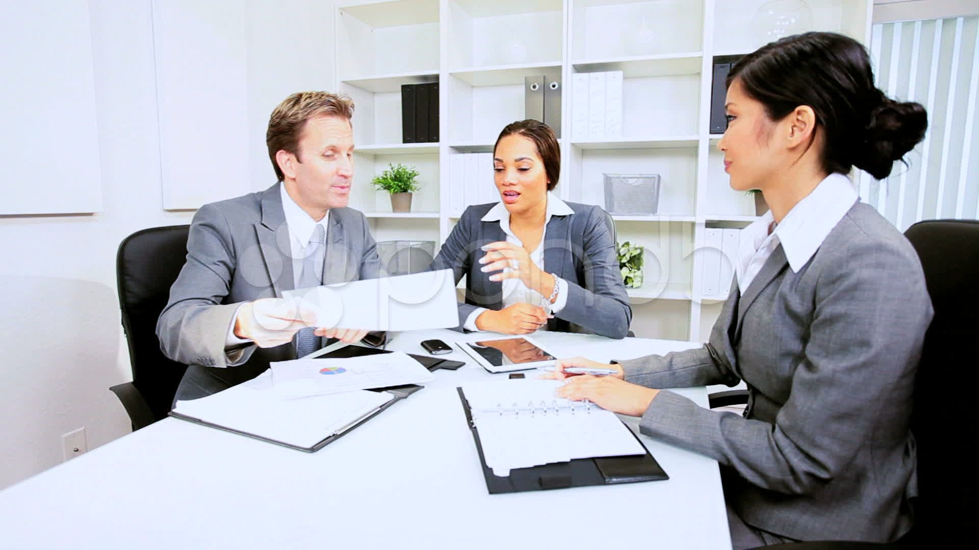 Boardroom Meeting Business Executives Stock Footage Business