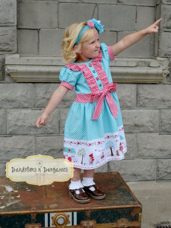 Girls Classic Ruffle Dress or Shirt, PDF Sewing Pattern, Sizes 2T-8 ...