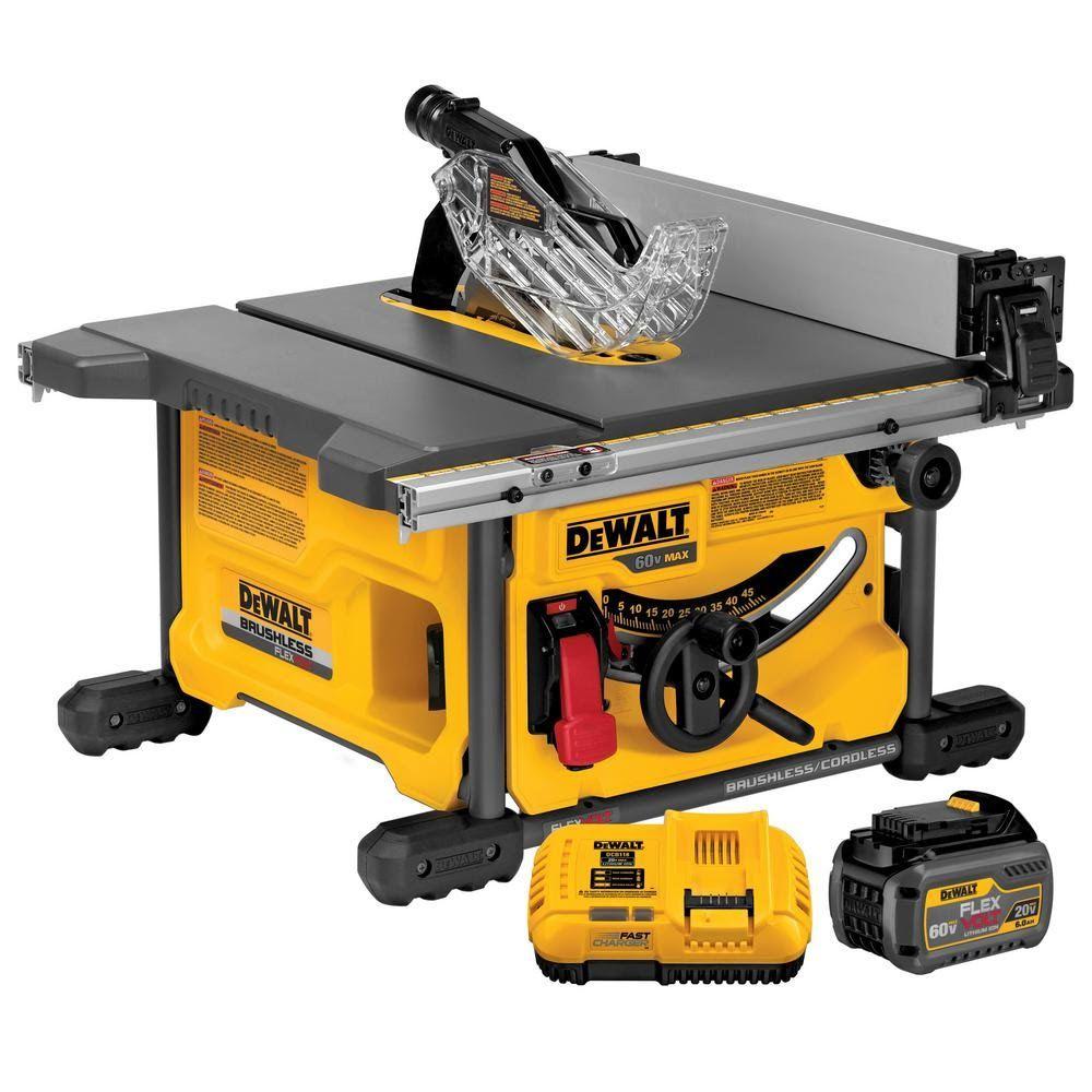 Dewalt Flexvolt 60v Cordless Tablesaw Saw Tool Best Table Saw