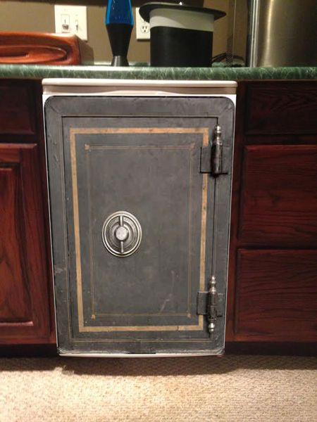 Vintage Safe Mini Fridge Skin Mini Fridge Fridge