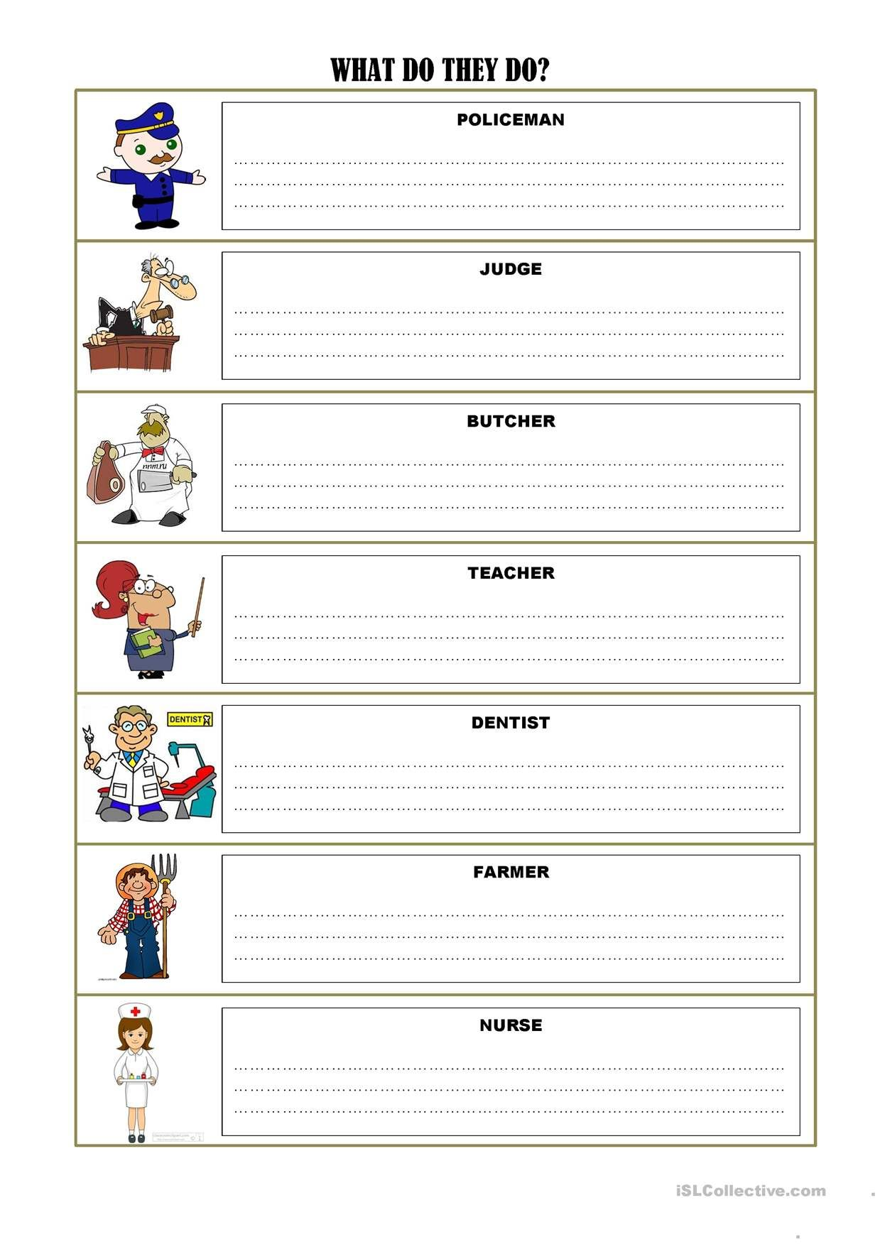 Job Exercises And Vocabulary 3 Pages With Images