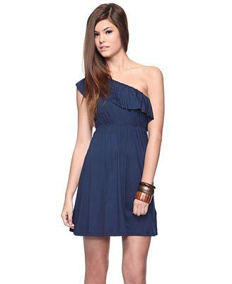 Forever 21 Erica Ruffle Dress in Navy $14.80