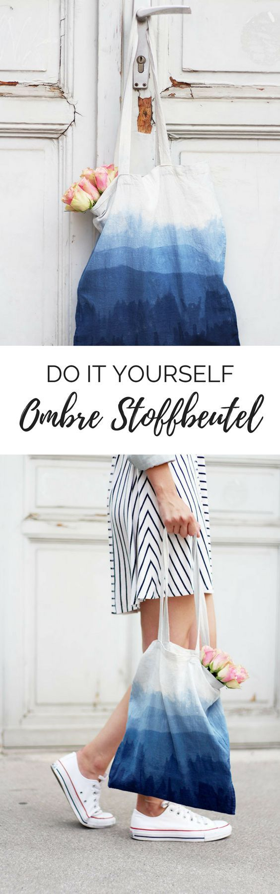 do it yourself ombre stoffbeutel selbermachen diy stoffe f rben bedrucken pinterest. Black Bedroom Furniture Sets. Home Design Ideas