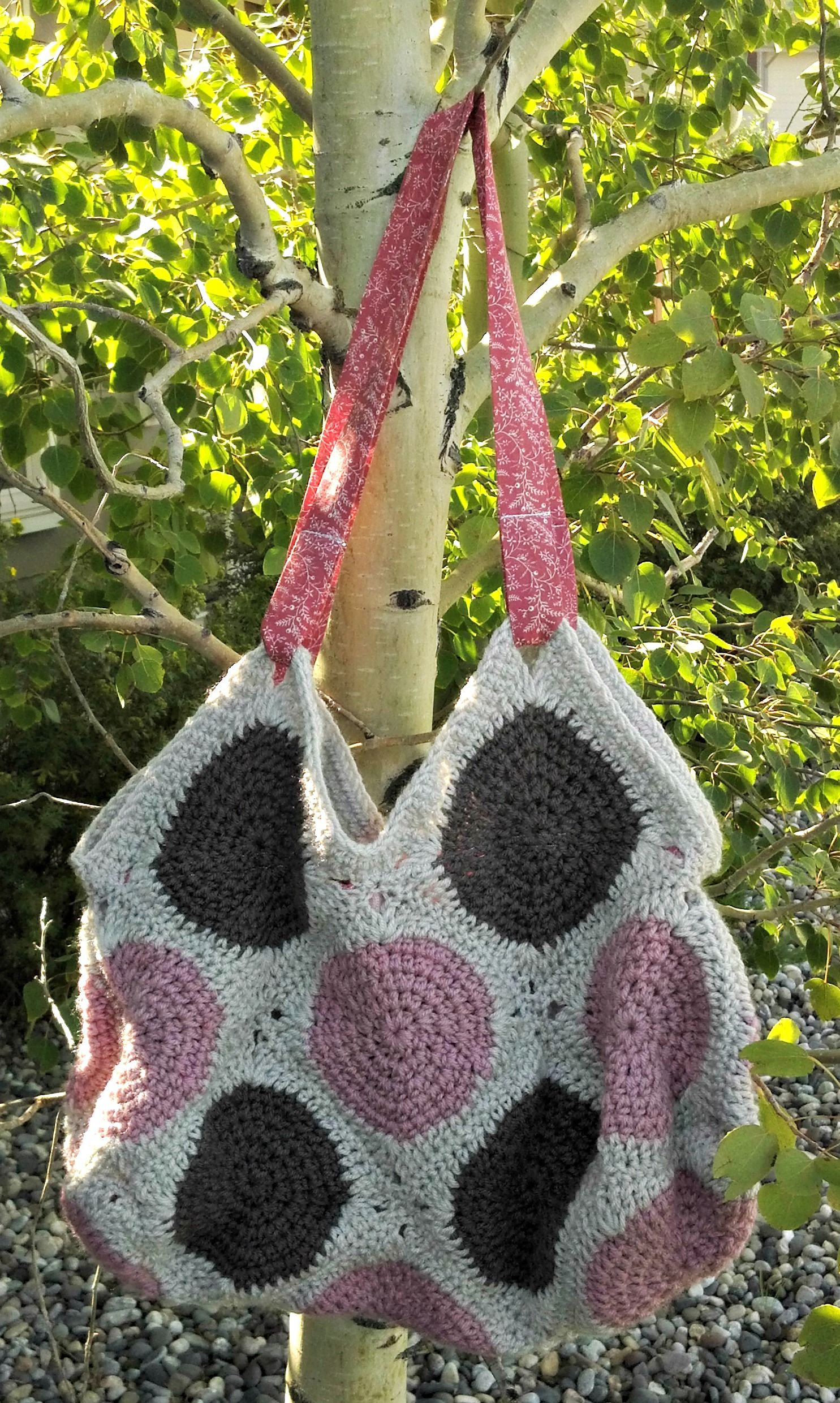 oversized granny square hobo bag. made from acrylic yarn and vintage ...