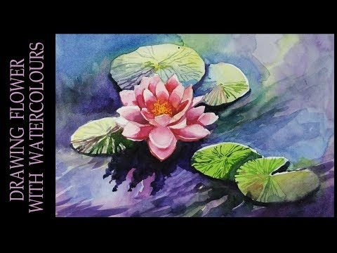 Watercolor Painting Tutorial Of Lotus Flower An Easy Step By Step