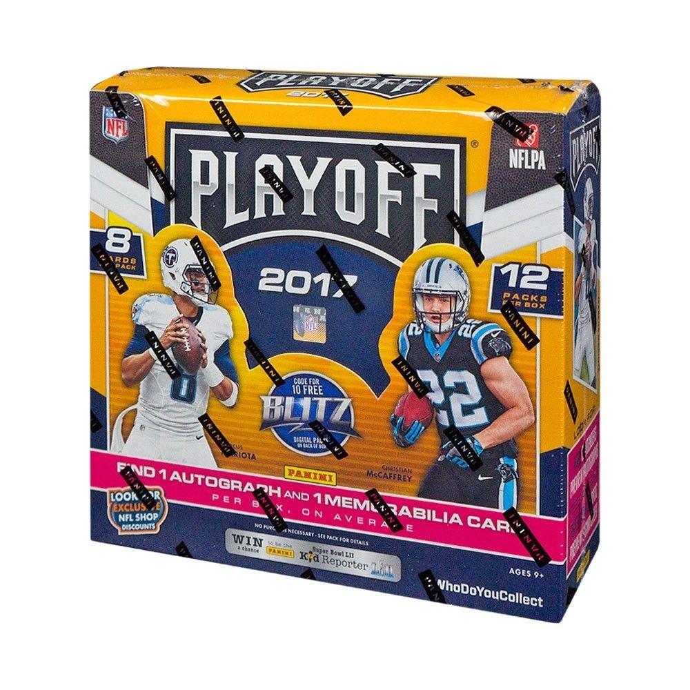2017 panini playoff football hobby box football card
