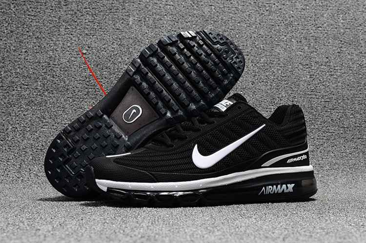 release date 65de3 37098 Nike Air Max 360 Running Women Men Shoes Black White
