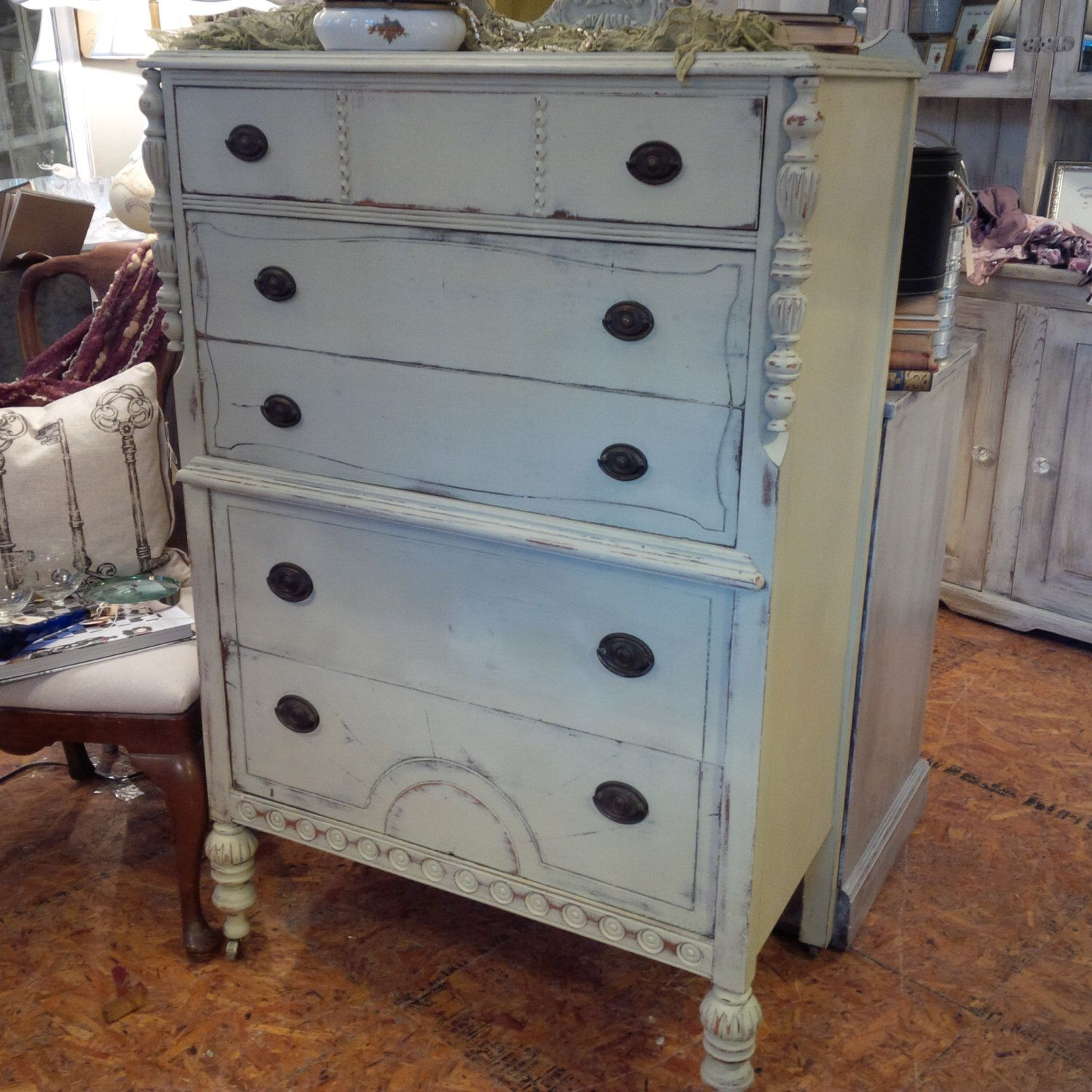 Vintage Painted Cottage Dresser By Tesshome On Etsy Https Www