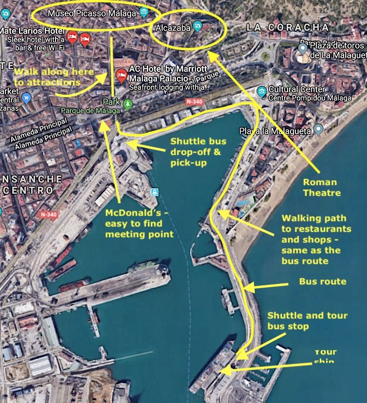 Things to Do in Malaga, Spain - To Europe and Beyond 2018 ... on center of budapest map, center of bangkok map, center of milan map,