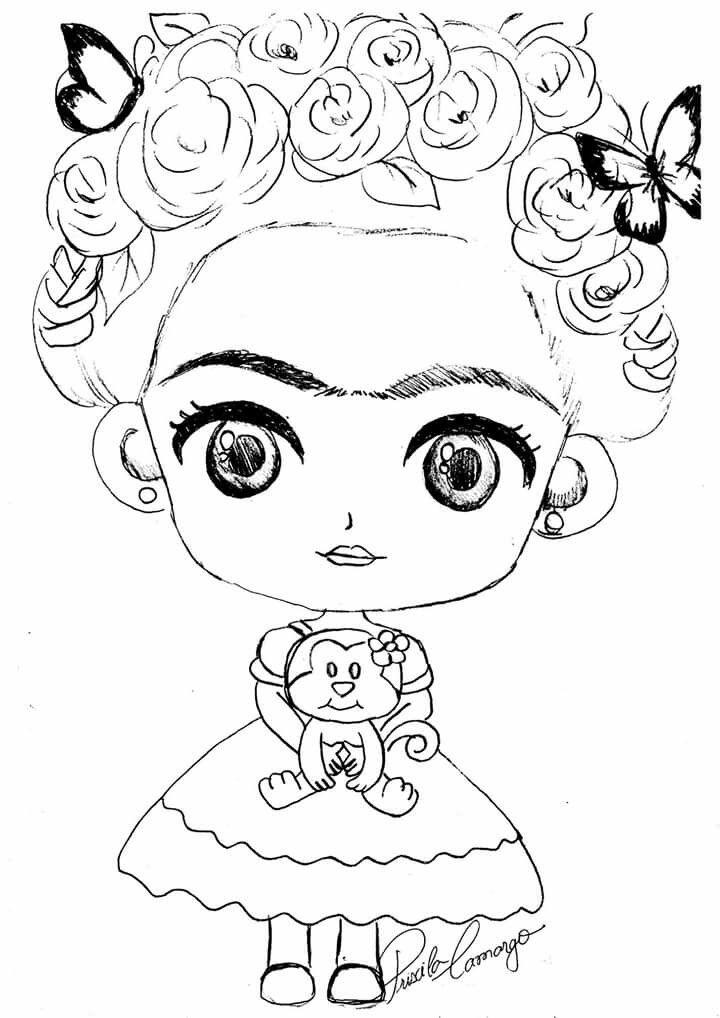 Pin De Laura Olivia Torres En Proyectos 2 Frida Dibujo