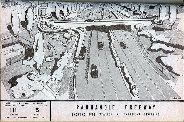San Francisco: Panhandle Freeway (1948), via Flickr.
