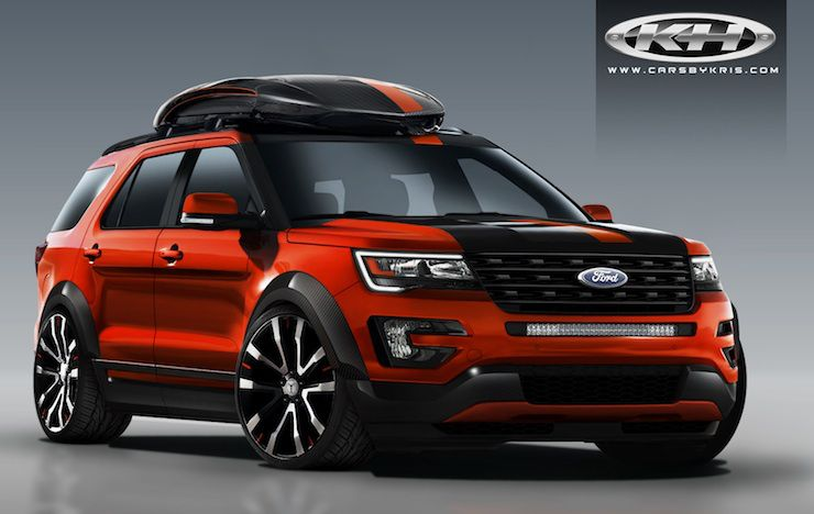 4 Wild 2016 Ford Explorer Sport Models Invade Sema Ford Explorer