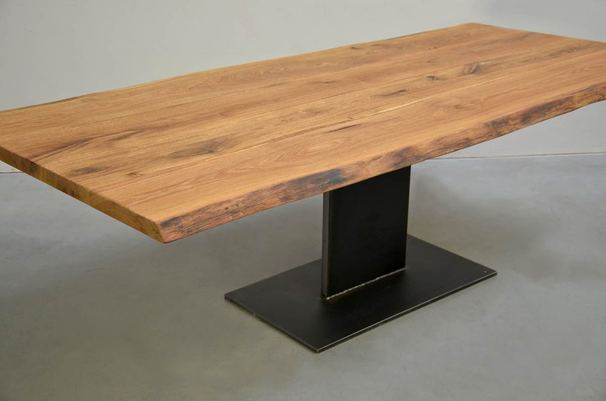 Eiche Vollholz Eiche Esstisch Massiv Geölt Monopods Timber Oak Dining Table