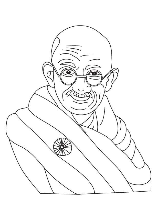 Gandhi Jayanti Coloring Page Coloring Pages Drawing Sheet Gandhi