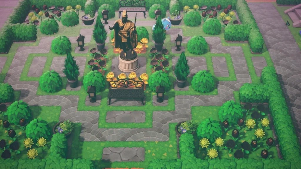 Photo of Finished the garden today… Featuring Filbs : AnimalCrossing