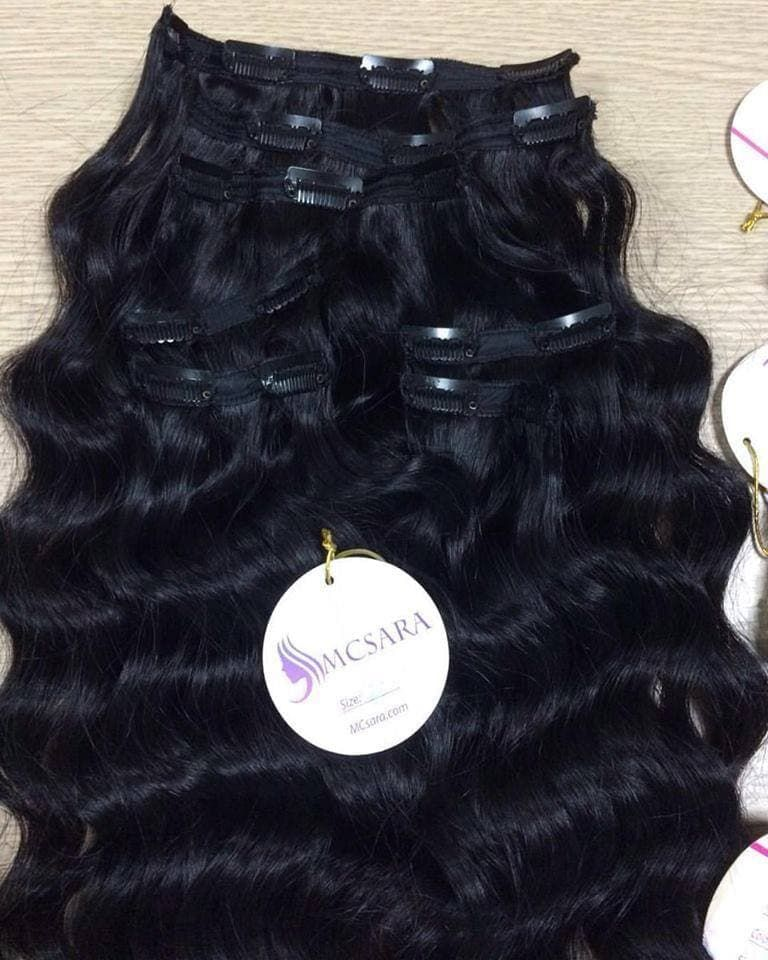 Type Clip In Wavy Hair Extensions Material 100 Vietnam Remy Hair