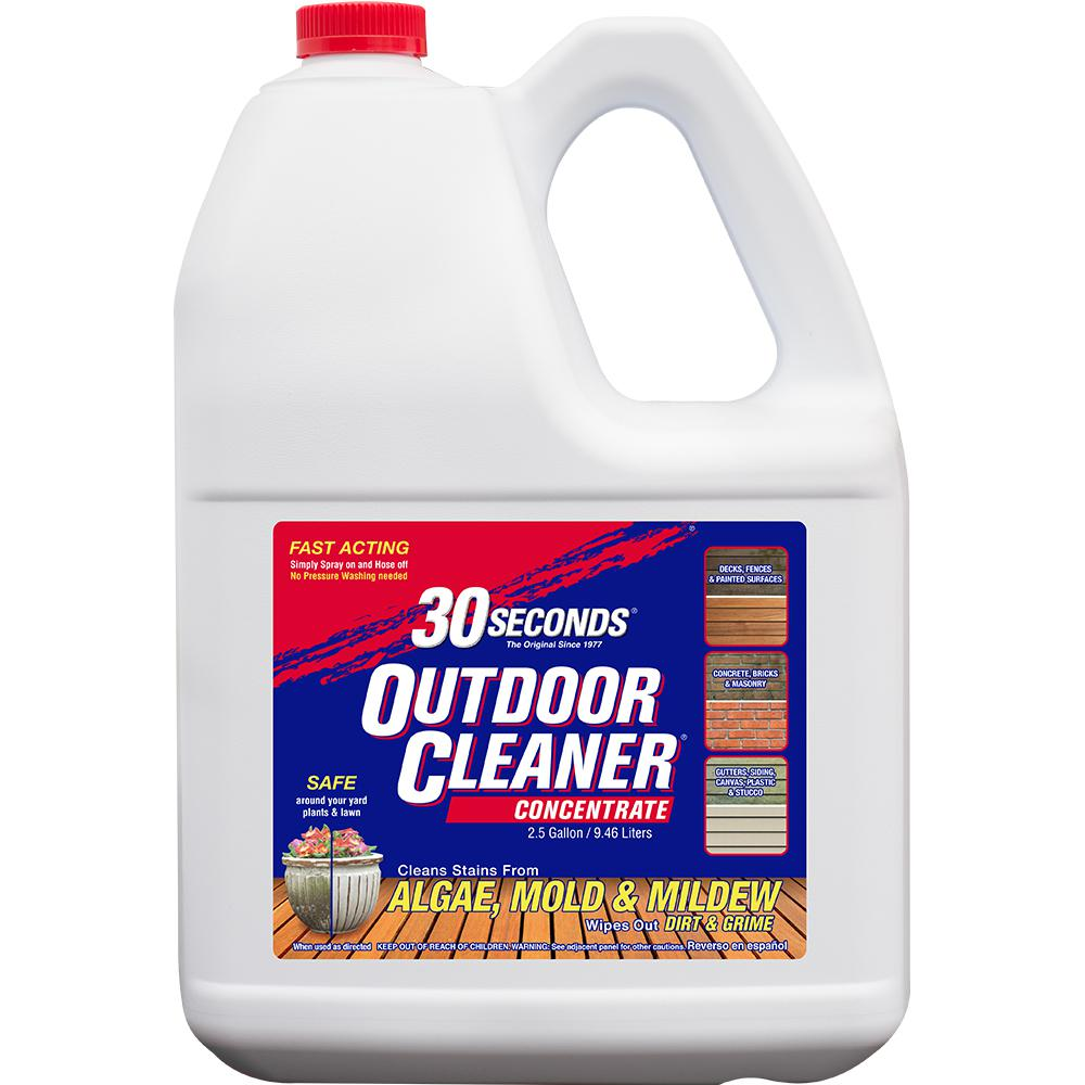 30 Seconds 2 5 Gal Outdoor Cleaner Concentrate 100059523 The Home Depot In 2020 Window Cleaning Tips Mold And Mildew Cleaning Mold