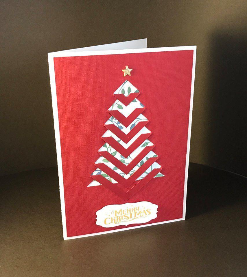 Braided christmas tree card 1 by carol prevost